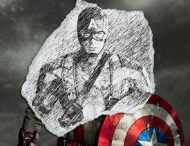 365体育投注网站把美国队长照片转为素描效果