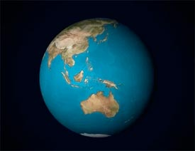 AE教程给平面图做成立体球面状动画