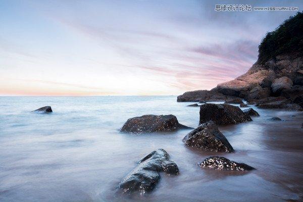 photoshop调出通透质感的海边风光照片