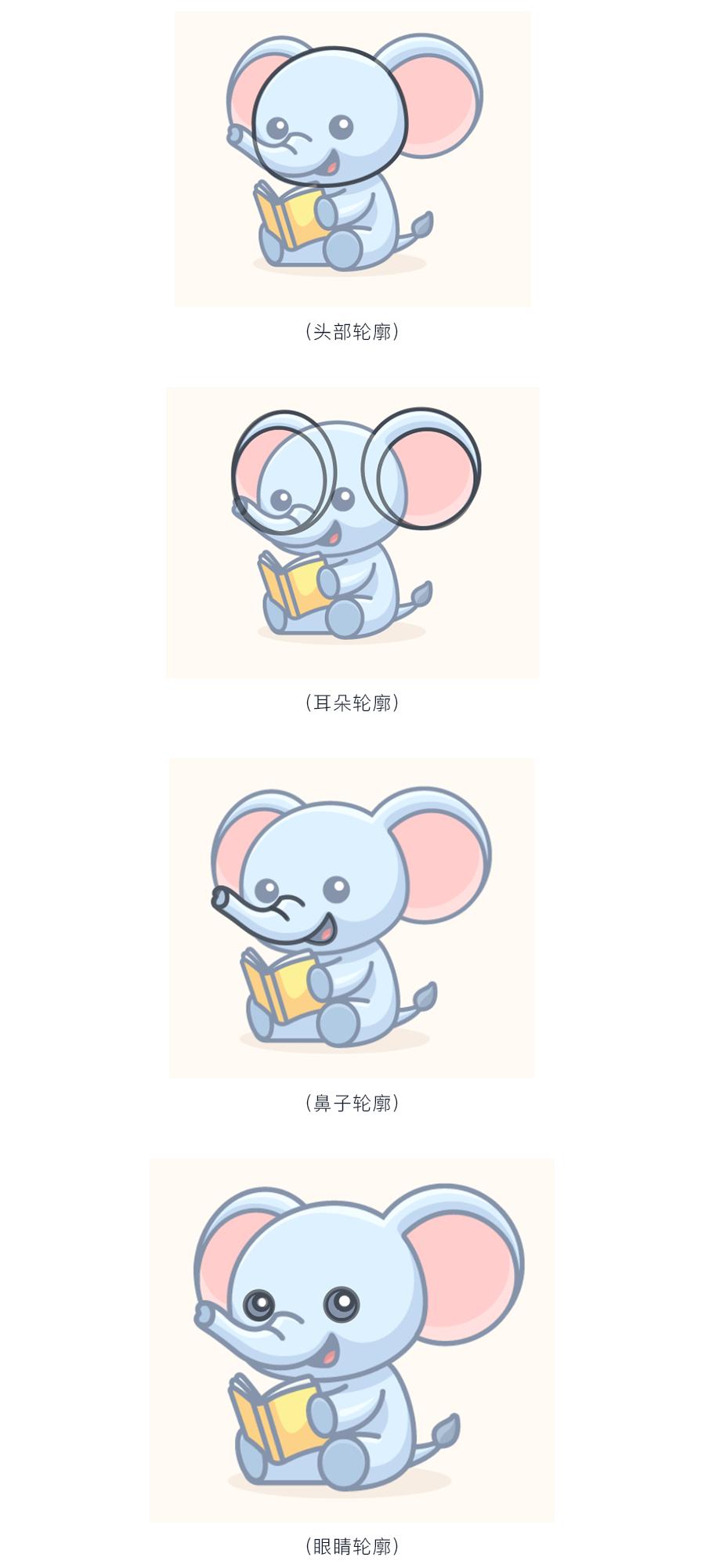 卡通绘画:PS和AI绘制卡通风格的小象,PS教程,思缘教程网