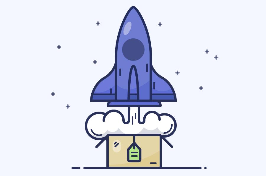 火箭绘画:ps绘制简笔画风格的火箭图标