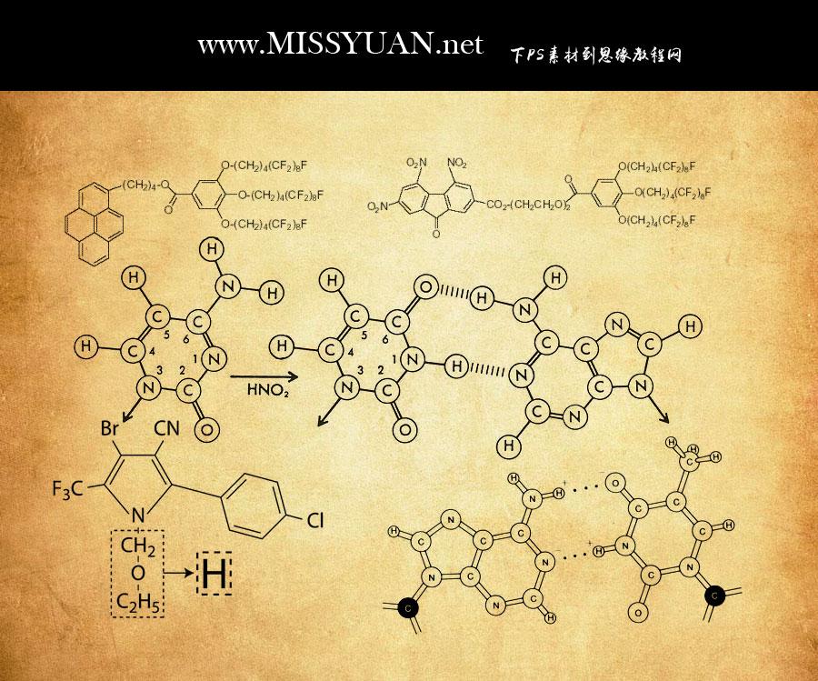 化学分子结构图PS笔刷