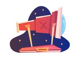 望远镜插画:AI绘制个性的天文望远镜