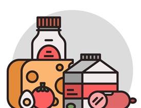 食物图标:AI绘制简约风格的食品图标