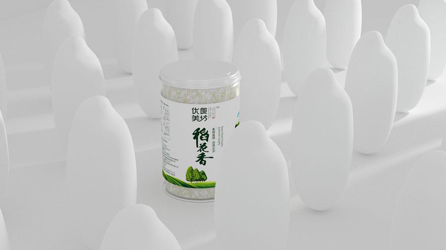 吉林稻花香大米包装设计欣赏,PS教程,思缘教程网