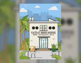 酒吧插画:AI绘制扁平化的啤酒屋插画