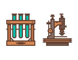 复古图标:AI设计科学主题图标教程