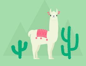 插画绘制:用AI绘制可爱的羊驼插画