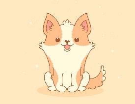 插画设计:用AI绘制可爱的小柯基插画