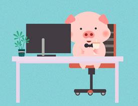 小猪插画:用AI绘制可爱的小猪插画