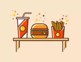 图标设计:使用AI绘制扁平化快餐图标