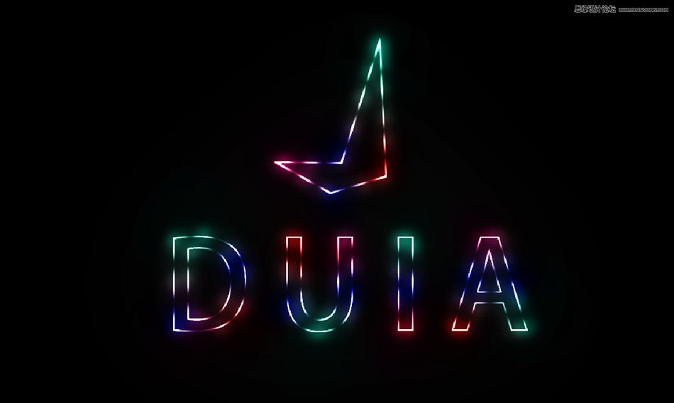 绚丽文字:用PS制作绚丽的霓虹字效果,PS教程,思缘教程网