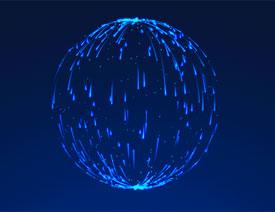 AE制作流程的球形火花动效