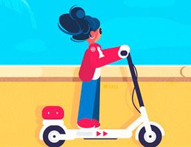 矢量插画:使用AI制作滑板车插画教程
