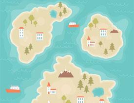 卡通地图:用AI制作卡通的地图插画