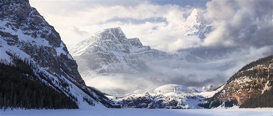 photoshop创意合成连绵的雪山全景图【附素材】