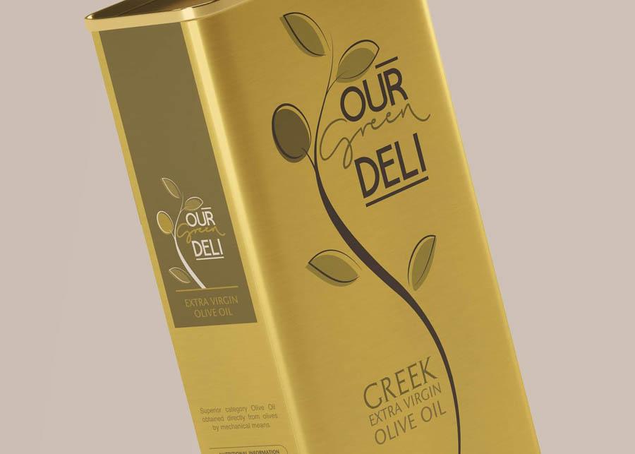 Our Green Deli橄榄油包装设计欣赏,PS教程,思缘教程网