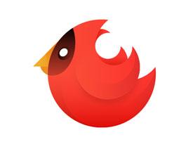 小鸟图像:用AI绘制渐变风格的小鸟图形