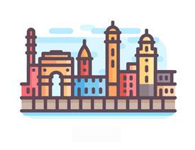城市图标:用AI软件制作描边城市图形