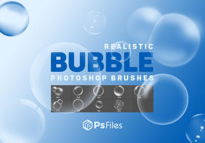 透明的气泡装饰PS笔刷