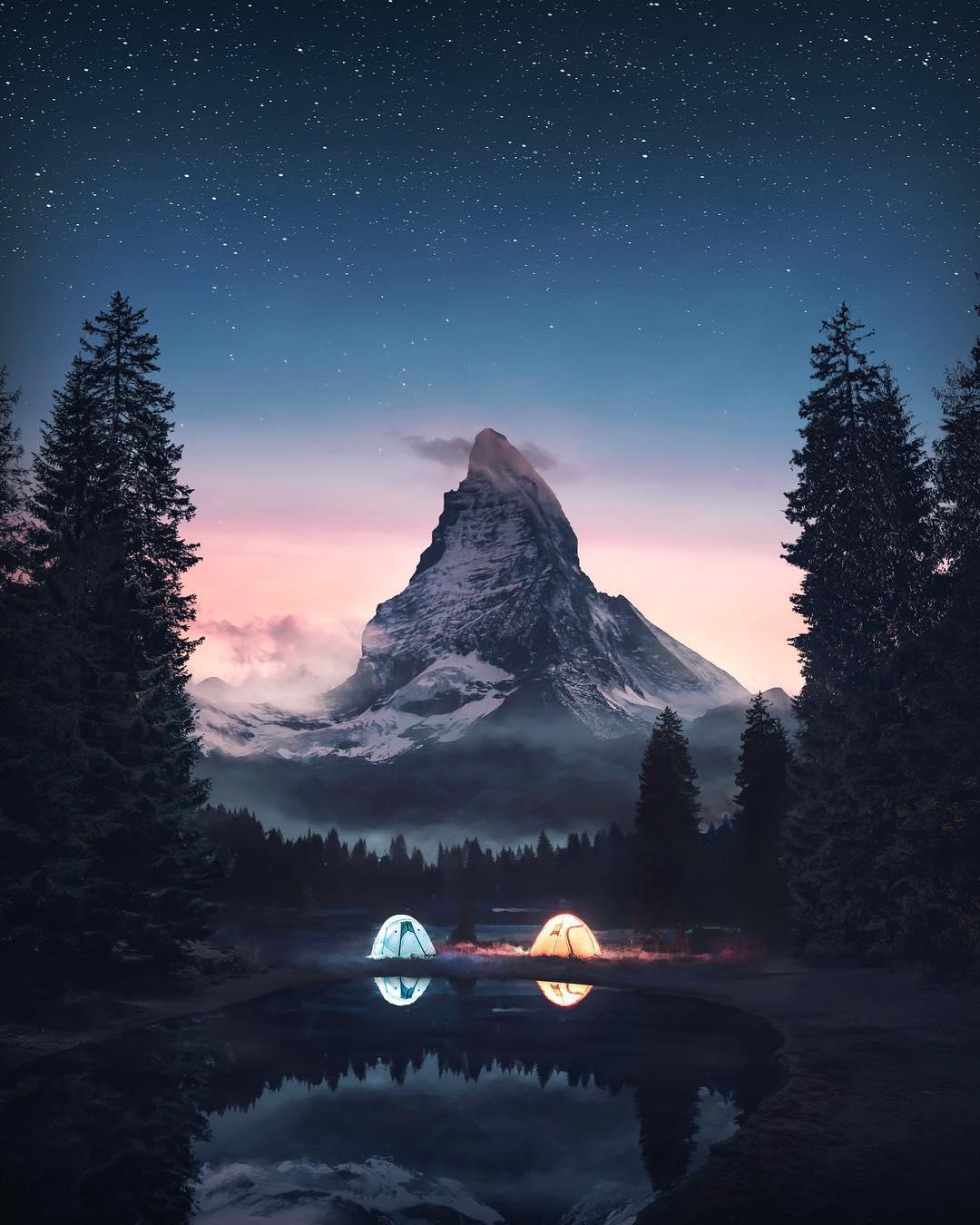 超现实主义的风景图后期创意合成作品