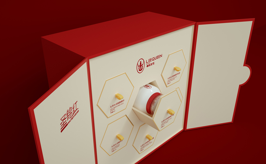 红色主题的护肤品包装设计欣赏,PS教程,思缘教程网