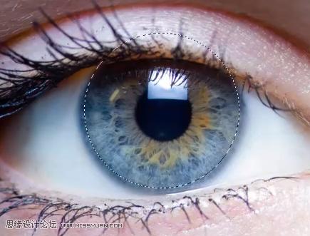 美瞳特效:用PS制作人像美瞳眼镜效果,PS教程,思缘教程网
