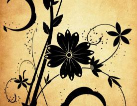 时尚植物花纹装饰PS笔刷