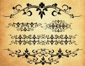 欧式复古风格花纹PS笔刷