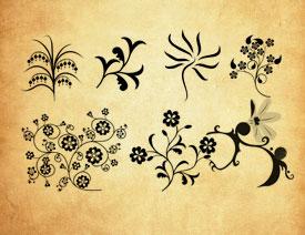 抽象的花纹藤蔓PS笔刷
