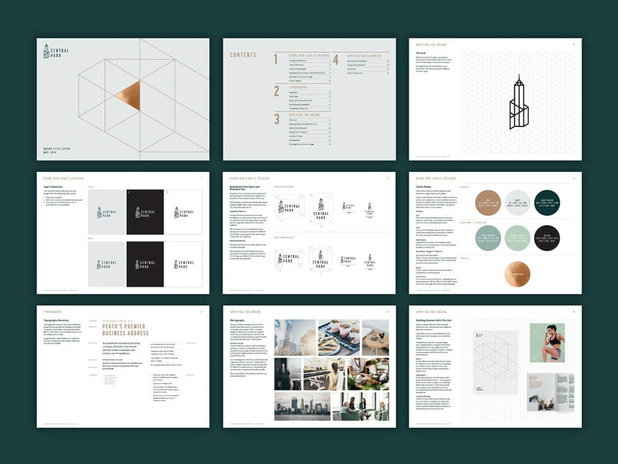 珀斯中央公园大厦品牌形象设计欣赏,PS教程,思缘教程网