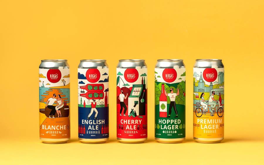 VARKA啤酒时尚包装设计欣赏,PS教程,思缘教程网