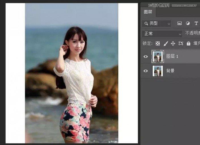 Photoshop巧用内容识别工具给人物进行缩放
