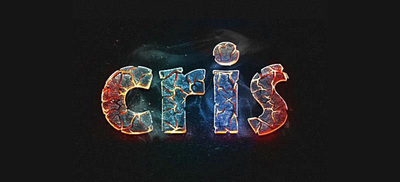Photoshop制作逼真的熔岩艺术字
