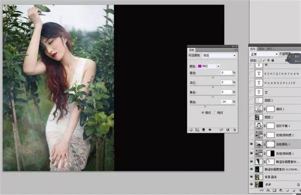 Photoshop调出外景人像暗色艺术效果