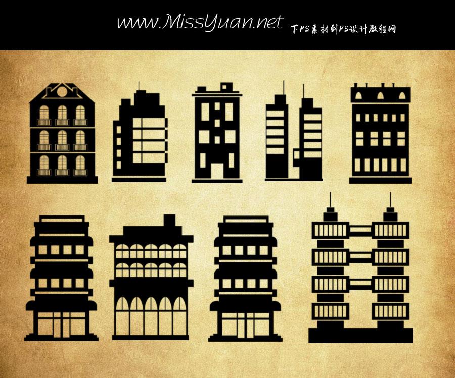 欧式矢量建筑物PS笔刷